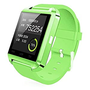 Colofan Smartwatch Luxury U8 Bluetooth Smart Watch WristWatch Phone with Camera Touch Screen for IOS Iphone Android Smartphone Samsung Smartphone (green)