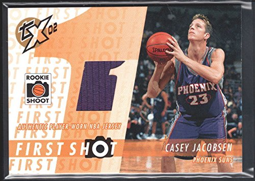 CASEY JACOBSEN 2002/03 TOPPS XPECTATIONS RC FIRST SHOT RELIC SUNS JERSEY SP $15 ()