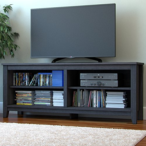 "Ryan Rove Mission 58"" Modern Wood Storage TV Stand Console Entertainment Center in Charcoal"
