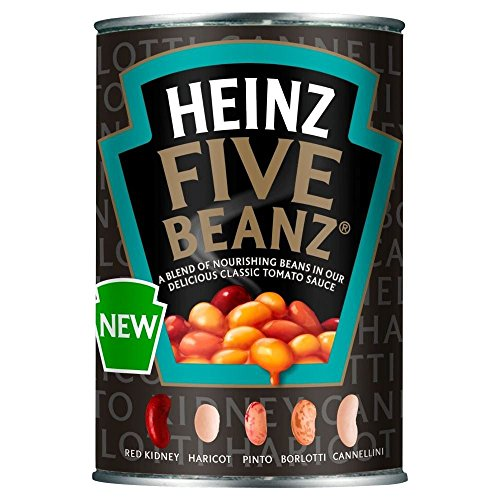 Heinz Five Beanz in Tomato Sauce (415g) - Pack of (Heinz Jam)