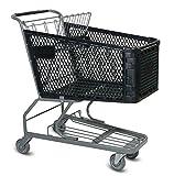Advance Carts HC180-B-S Plastic Shopping Cart, 180 L, Black