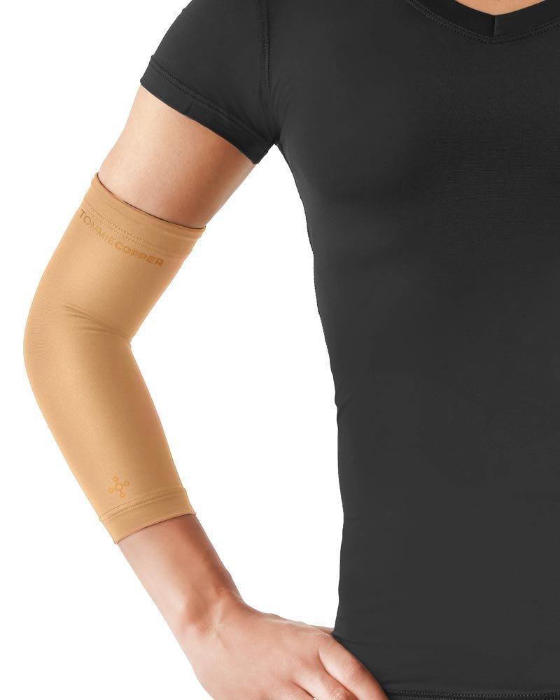 Tommie Copper Women's Recovery Vantage Elbow Sleeve, Nude, Medium
