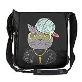 Cat Hip Hop Fashion Print Diagonal Single Shoulder Bag