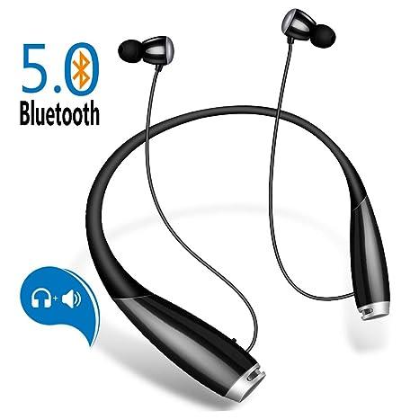 958b31e1814 5.0 Bluetooth Headphones w/External Speaker, JoyGeek Running Wireless  Earbuds with 28H Playtime Stereo