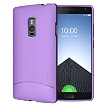 OnePlus 2 Case - TUDIA Ultra Slim Full-Matte ARCH TPU Bumper Protective Case for OnePlus Two (Purple)