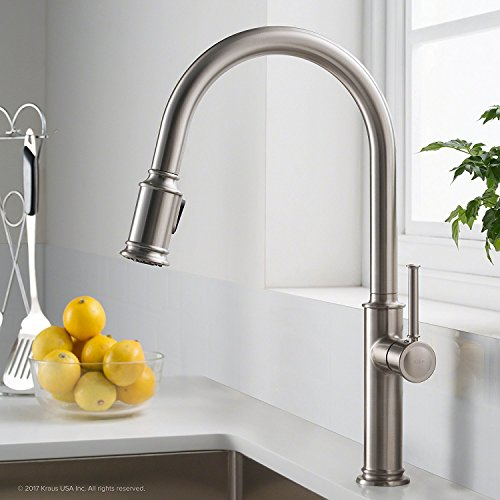 llette Single Handle Pull Down Kitchen Faucet with Dual Function Sprayhead with All-Brite Spot Free Stainless Steel Finish ()