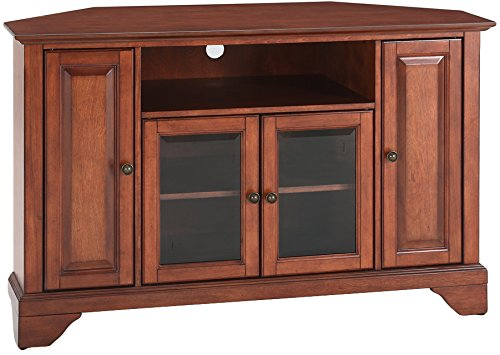 Crosley Furniture LaFayette 48-inch Corner TV Stand - Classic Cherry
