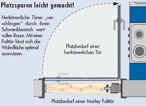 eiche hell mit Schloss Faltt/ür MARLEY Eurostar mit Fenster B 83 x H 205 cm Fb