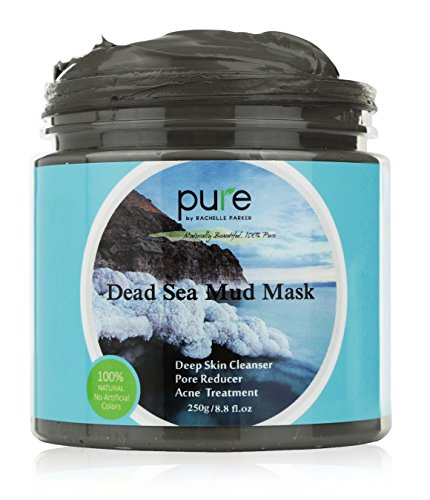 (PURE Dead Sea Mud Mask for Face, Body/Hair, 100% Natural and Organic Deep Skin Cleanser, Clears Acne, Reduces Pores and Wrinkles, Ultimate Spa Quality, Mineral Infused Additive Free, 8.8 oz.)