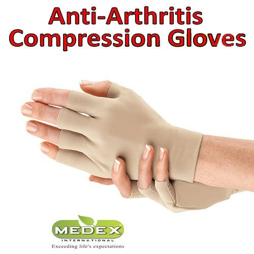 Orthopedic Arthritis Compression Gloves All Day Relief (2 Beige) by Medex Lab Inc (Image #2)