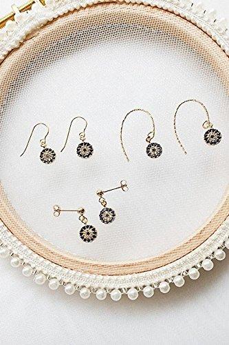 Generic Turkey_evil_eye_eye_ earrings _white_and_blue_zircon_14K_ gold flower _ear_package_screws 14k Zircon Earrings