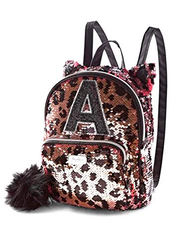 Justice Girls Cheetah Initial Flip Sequin Mini Backpack (S)