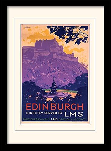 "National Railway Museum ""Edinburgh (2)"" Mounted and Framed Print, Multi-Colour, 30 x 40 cm Pyramid International MP10089P-PL"