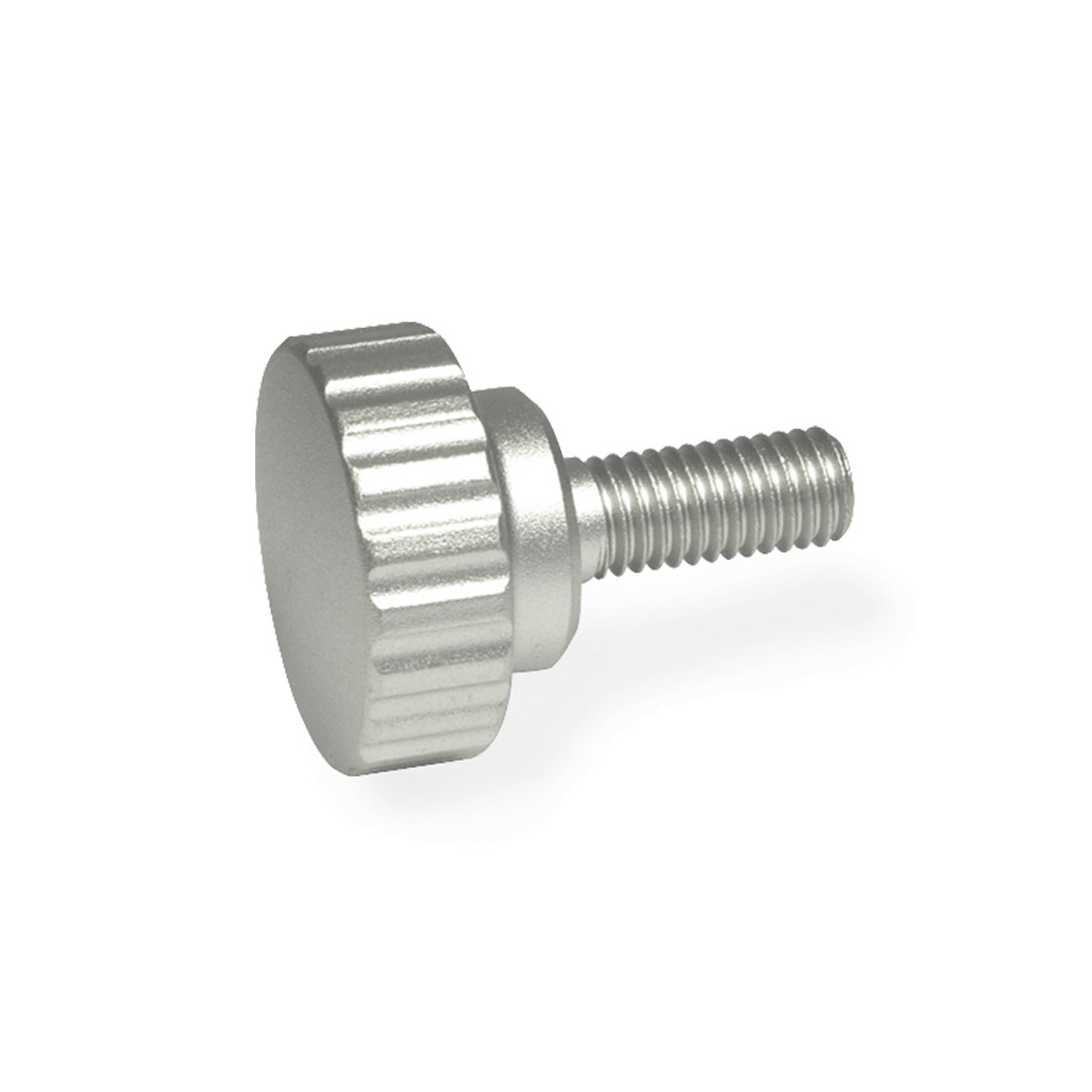JW Winco Stainless Steel 304 Screw, Knurled, Threaded Stud, M6 x 1.0 Thread Size x 20mm Thread Length, 24mm Head Diameter (Pack of 1)