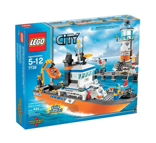 LEGO 7739 City Coast Guard Patrol Boat and Tower