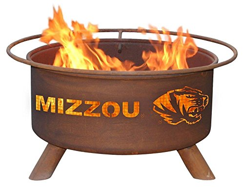 Missouri Tigers Mizzou Portable Steel Fire Pit Grill