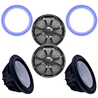 Wet Sounds Two Revo 12 Subwoofers, Grills, RGB LED Rings - Black Subwoofers & Black Closed Face SW Grills - 4 Ohm
