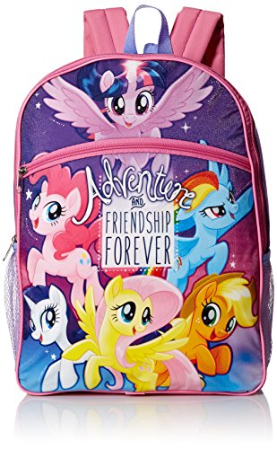My Little Pony Girls' 5 in 1 Backpack, Purple (Pony Gift Set)