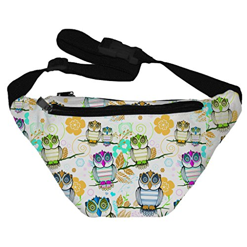 [Funny Guy Mugs Owl Fanny Pack] (Easy Halloween Costume Ideas For Guys)