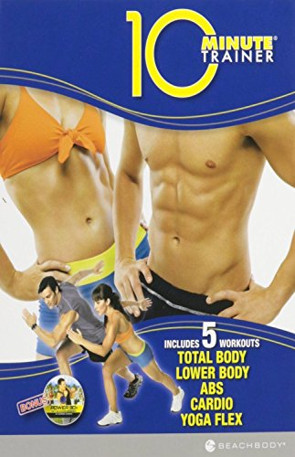 Tony Horton's 10 Minute Trainer: Includes 5 Workouts - Total Body, Lower Body, Abs, Cardio, Yoga Flex (DVD Set) by Beachbody (Dvd Yoga Sets)