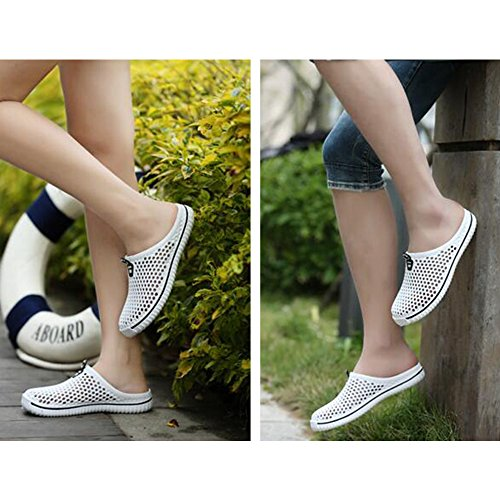 Eastlion Couple Hollow Sandals Slippers Shoes Hole White1 Beach Mesh Breathable Summer 00q5fwFr