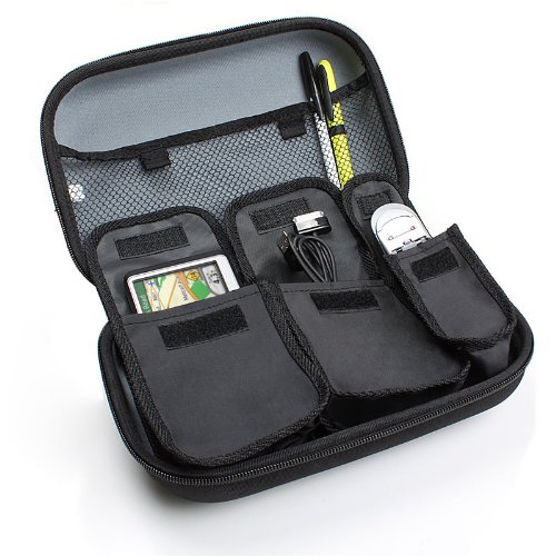 USA GEAR Multitrack Recorder Carrying Storage Case Hard Shell Design Internal Mesh Pocket, Holds Your Chargers, Adapters, Microphones Other Digital Accessories - Compatible with TASCAM DP-008EX DP-006
