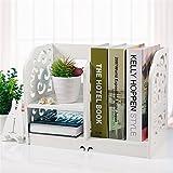 Prettybuy Creative Eco-Friendly Curves Desk Organizer Shelf for Books, Jewelry, Little Flower Pot, Desk Decoration, Style B White