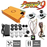 Pandora's Box 9 Arcade Board, 1500 Retro Classic Vintage Multi Video Games, Arcade Cabinet Console Machine Full DIY Kit, with buttons/joysticks/harness cable/power switch adapter, HDMI VGA 720P LCD