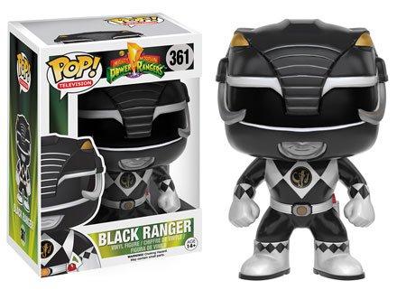 Funko POP TV: Power Rangers - Black Ranger Action Figure ()