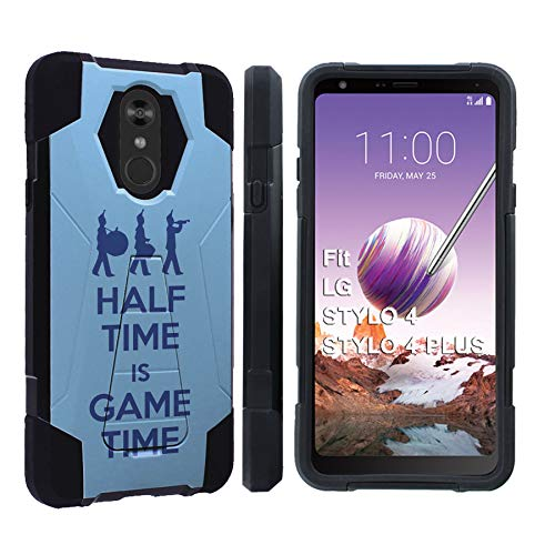 [Mobiflare] LG Stylo 4 / Stylo 4 Plus [Black] Dual Layer Armor Case [Kickstand] [Marching Band Print]