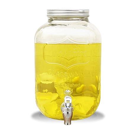 QYJ-Mason Jar Bebida Fuente Bebida Hielo Bebida 8 L Carta ...