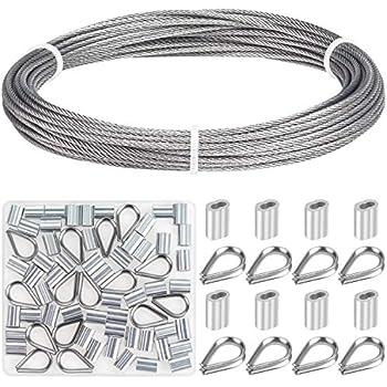 Amazon.com: Canomo - Cable de alambre de acero inoxidable de ...