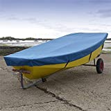North American Custom Covers Mirror Dinghy Sailboat Deck Cover - Tailored, Waterproof & Breathable - Blue …