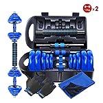 Fitness-Equipment-Set-Un-Paio-di-placcatura-Manubrio-Regolabile-Peso-Bilanciere-Home-Uomo-di-Biella