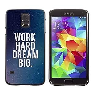 - IRIDESCENT MOTIVATIONAL DREAM BLUE HARD WORK - - Monedero pared Design Premium cuero del tir???¡¯???€????€?????n magn???&r