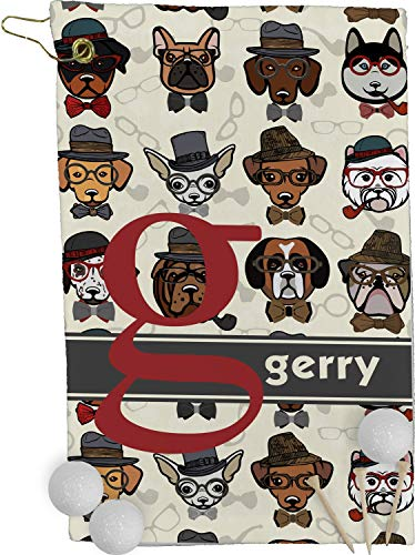 (RNK Shops Hipster Dogs Golf Towel - Full Print (Personalized))