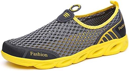 屋外の川の靴の底の夏の女性と男性の軽量MD足裏スリップ耐摩耗性1ペダルメッシュ通気性スポーツシューズモデル ポータブル (色 : Gray, Size : US5.5)