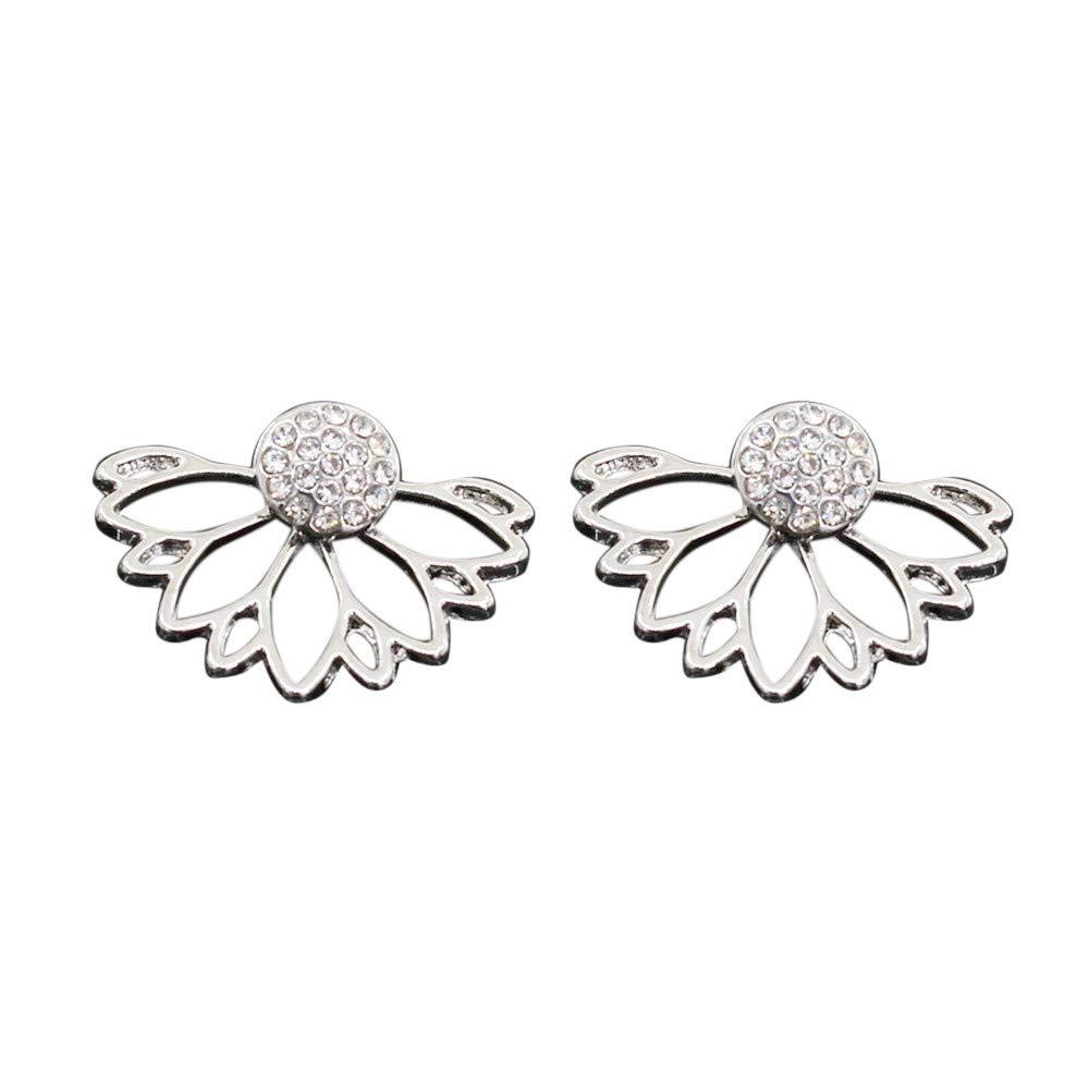 HELLOSAY Women's Fashion Alloy Earrings Combination Simple Earrings (Silver)
