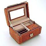 Reed & Barton Cognac Croco Leather 'Monterey' Jewelry Case L025C