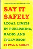 Say It Safely, Paul P. Ashley, 029595499X