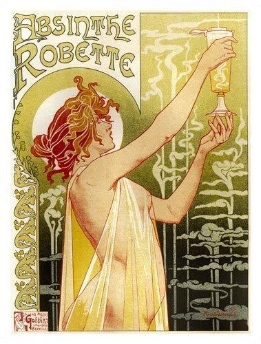 Absinthe Robette Naked Woman Verde Fairy - Bebidas, Antigua ...