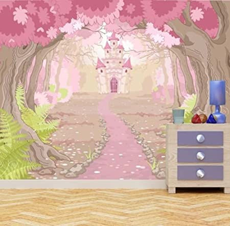 Fantasy Magic Fairy Tale Princess Castle Grls Bedrom Wall Mural Photo Wallpaper Large 1500mm X