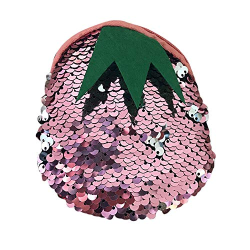 Ladies Women Girls Bag Pink Sequins Fashion Color Purse Coin ouble Voberry Pouch Wallet Mini xazTnq