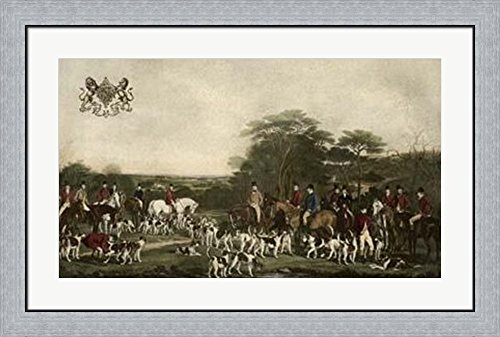 nd The Quorn Hounds by Gordon Grant Framed Art Print Wall Picture, Flat Silver Frame, 36 x 26 inches (Quorn Hounds)