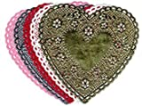 Hygloss Products Inc. Doilies 6 Pink Hearts