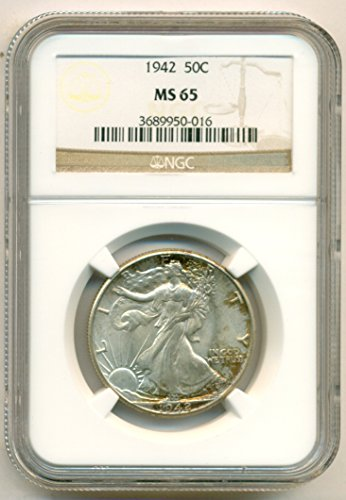 1942 Walking Liberty Silver Half Dollar MS65 NGC