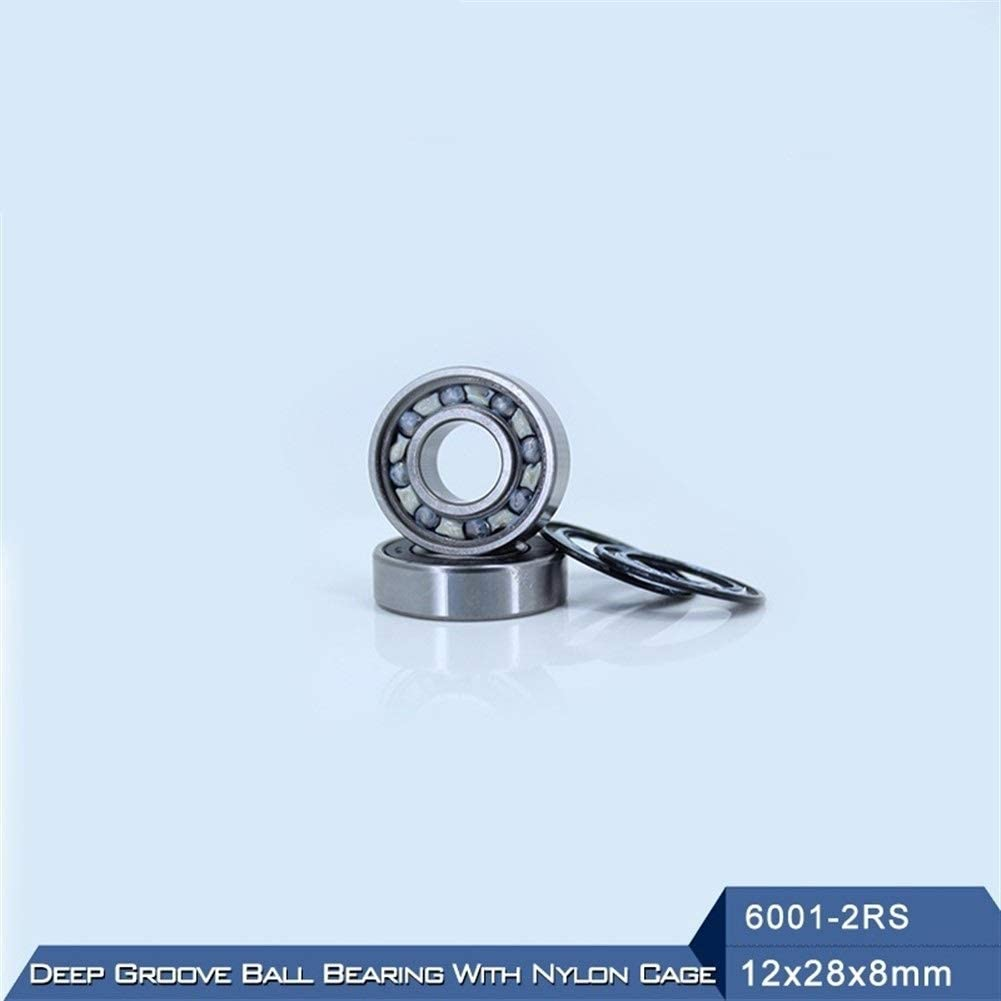 10 PCS DINGGUANGHE-CUP Power Transmission Products 6001RZ 6001RS 2RS Deep Groove Ball Bearing ABEC-3 Mute for Vacuum Cleaners Ball Bearings with Nylon Cage 6001 RS 2RZ 12288mm Ball Bearings