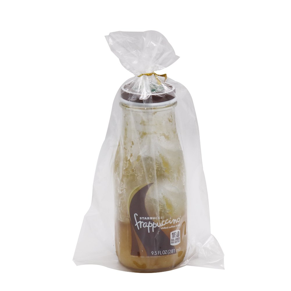 HRX Package 300 Pack Cello Cellophane Treat Bags with 380pcs Gold Twist Ties, 5.9 by 9.8 inch 1.4 Mil Clear OPP Bags for Bakery, Cookies, Candies,Dessert