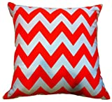Cheap Artiwa SALE 80% OFF Contemporary Zig Zag Orange and White 18″x18″ Canvas Cotton Sofa Bed Throw Decorative Pillow Case Gift Idea for Women Men Wife Mom Sister Birthday Housewarming New House