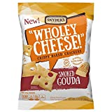 Snyder's of Hanover Wholey Cheese! Gluten Free Baked Cheese Crackers, Smoked Gouda, 1.75 Ounce (Pack of 24)